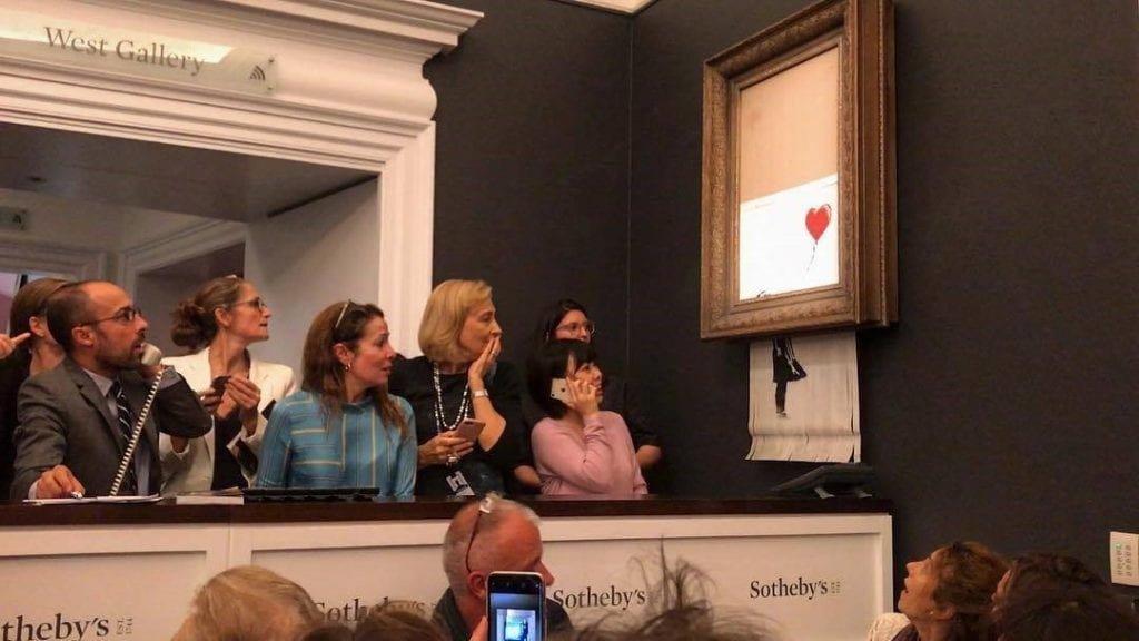 Banksy destruye su obra
