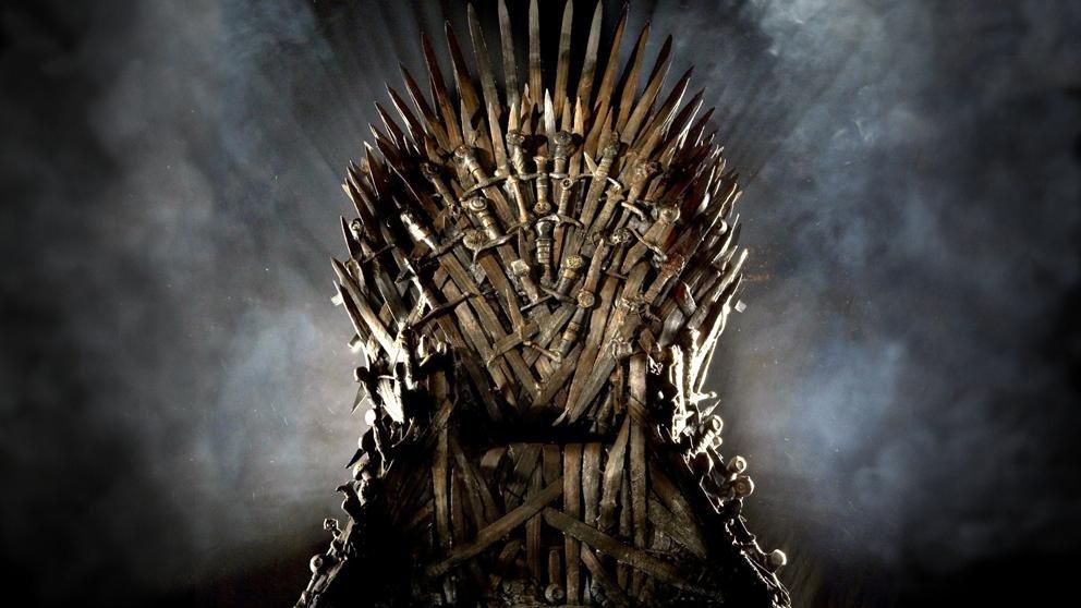 Trono de la serie de HBO Juego de Tronos
