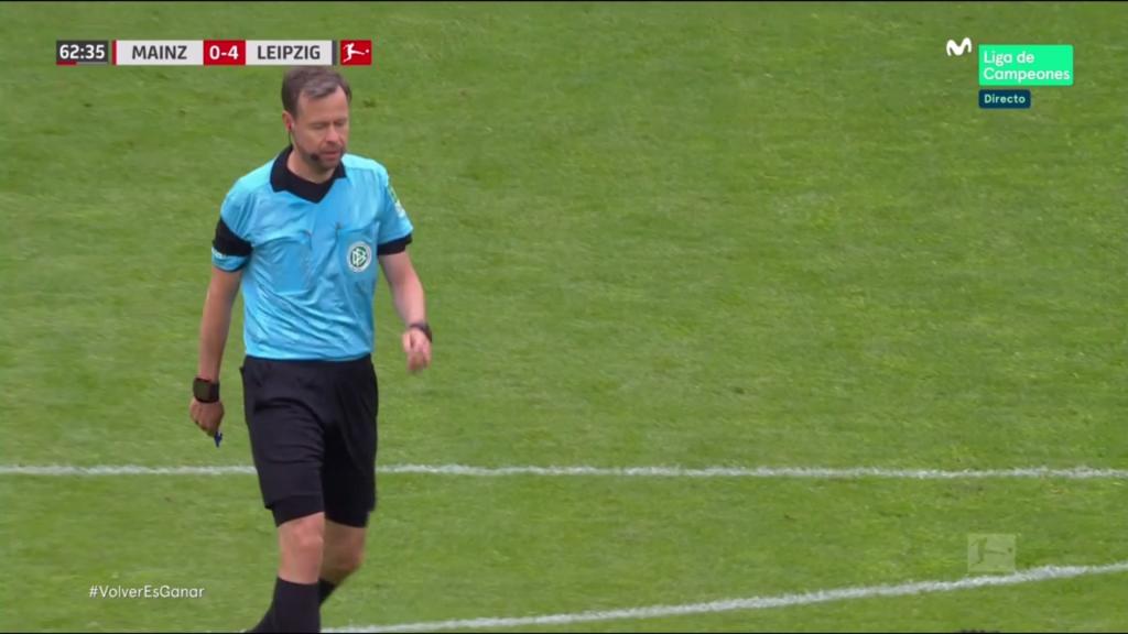 Markus Schmidt, el árbitro del partido Leipzig Mainz