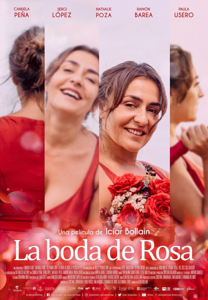 Cartel de la película La boda de Rosa, estrenada en el Festival de Málaga.