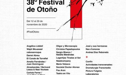 El Festival de Otoño 2020 sigue adelante por la cultura